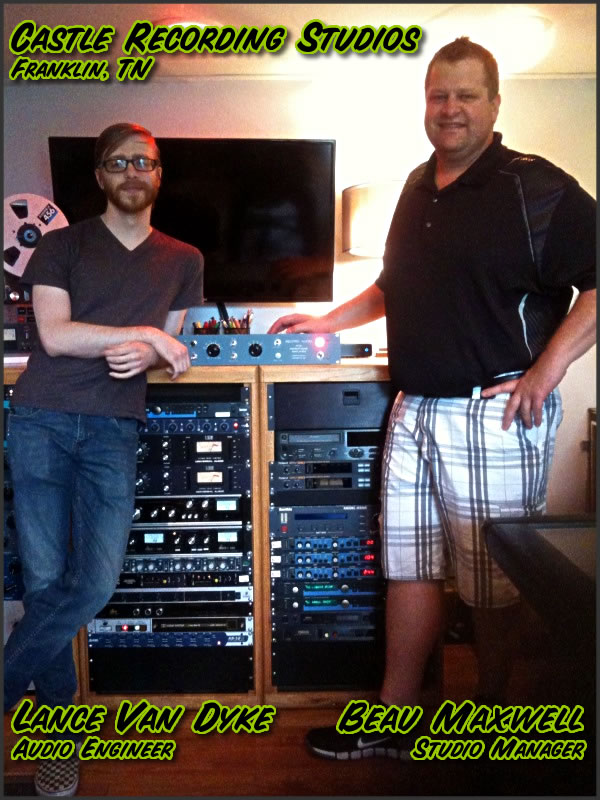 RecPro Audio RTB Preamp Tracking at Castle Recording Studios in Franklin, Tennessee