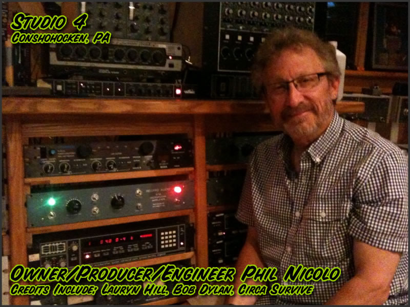 Owner/Producer/Engineer Phil Nicolo at Studio 4 with the RTB Mic Amplifier