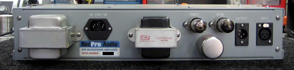 RTB Preamp Rear View