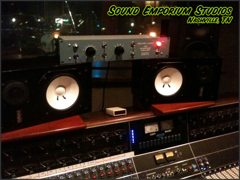 RecPro Audio RTB Preamp in use at Sound Emporium in Nashville, Tennessee